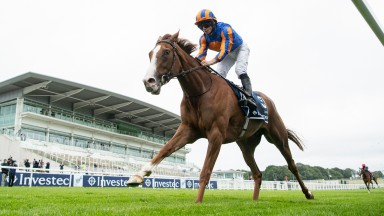 Love (Ryan Moore) win the Investec Oaks by 9 lengthsEpsom 4.7.20 Pic: Edward Whitaker/Racing Post