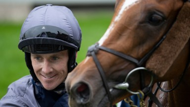 Serpentine ridden by Emmet McNamara in the winers circle after the Investec DerbyEpsom 4.7.20 Pic: Edward Whitaker/Racing Post