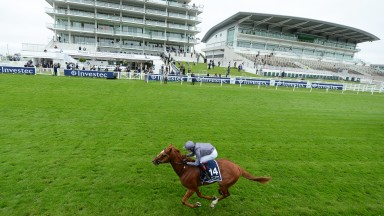 EPSOM, ENGLAND - JULY 04: Serpentine ridden by Emmet McNamara wins the Investec Derby at Epsom Racecourse on July 04, 2020 in Epsom, England. The famous race meeting will be held behind closed doors for the first time due to the coronavirus pandemic.(Phot