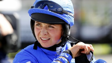 Bryony Frost after victory on 40-1 shot Balagan at Uttoxeter