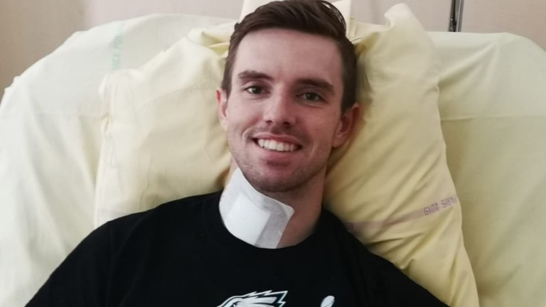 Jacob Pritchard Webb suffered numerous injuries in a fall at Auteul last month