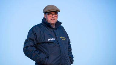 Trainer Alan King  at Barbury Castle  near Marlborough in Wiltshire 7.11.19 Pic: Edward Whitaker