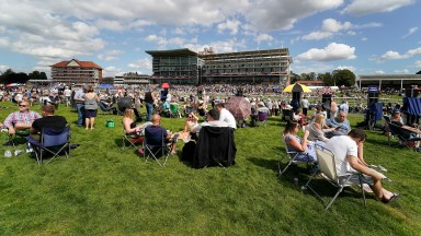 The Knavesmire during the Ebor meeting at York last August but it will be fenced off from the track on Thursday