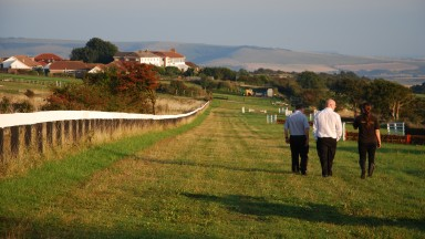 Down the straight: the home run at the former Lewes racecourse
