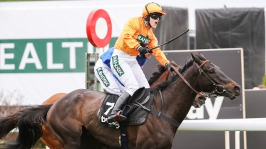 TEA FOR TWO Ridden by Lizzie Kelly wins at Aintree 6/4/17Photograph by Grossick Racing Photography 0771 046 1723
