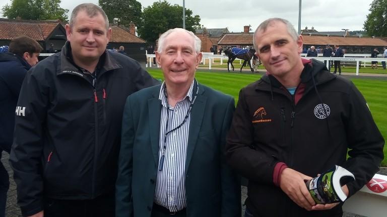 The Hilltop Racing trio of Stephen McAuley, Jim Gough and James McAuley