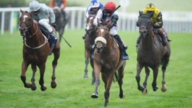 Hollie Doyle riding Dame Malliot win the Princess Of Wales's  Tattersalls StakesNewmarket 9.7.20 Pic: Edward Whitaker/ Racing Post