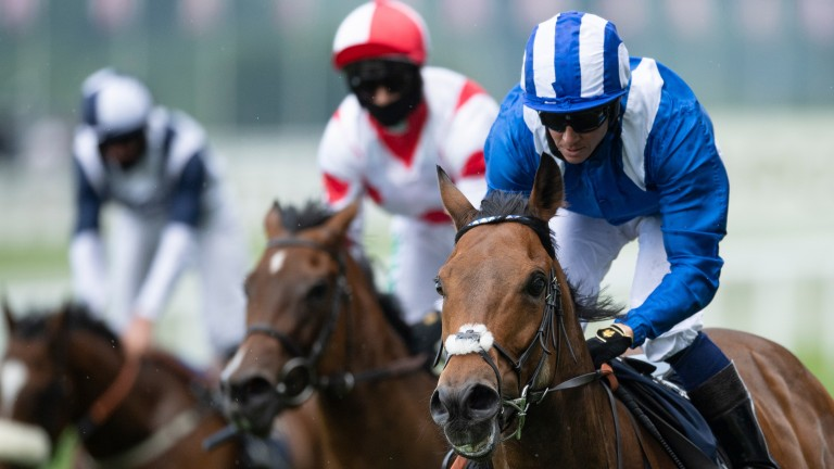 Battaash wins the King's Stand Stakes at Royal Ascot, his third Group 1