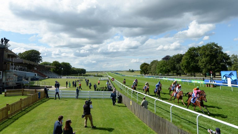 Last year's July Cup is played out in front of empty stands, but Newmarket has been planning for sizeable crowds for next month's July festival