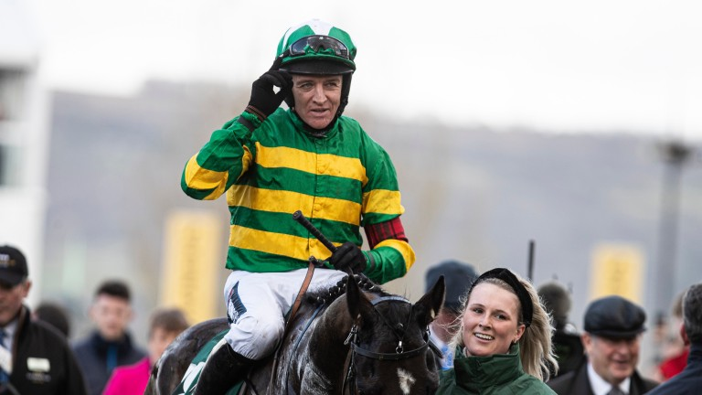 Barry Geraghty returns after his final Cheltenham Festival victory on Saint Roi in the County Hurdle in March