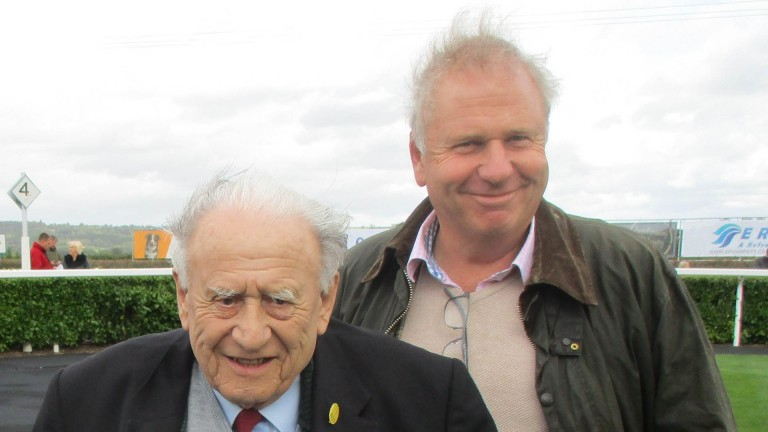 Don Hazzard (left) with his son Clive at Chepstow last year