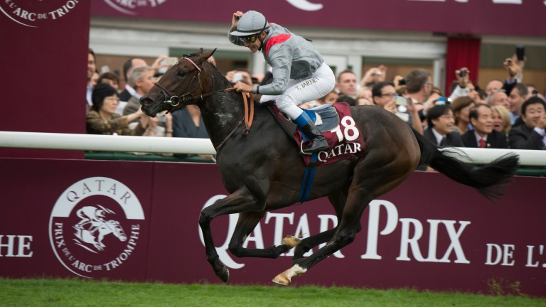 Treve and Thierry Jarnet take the Arc acclaim in 2013, the brilliant filly's first success in a race that has had eight dual winners