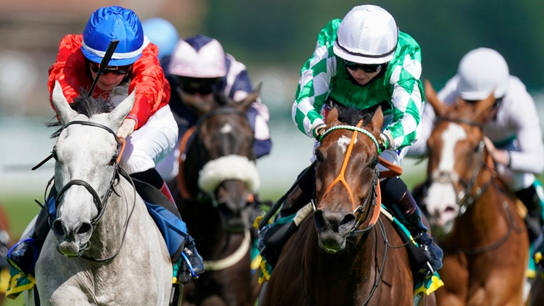 Cabaletta (left): wins the Listed Aphrodite Fillies' Stakes at Newbury