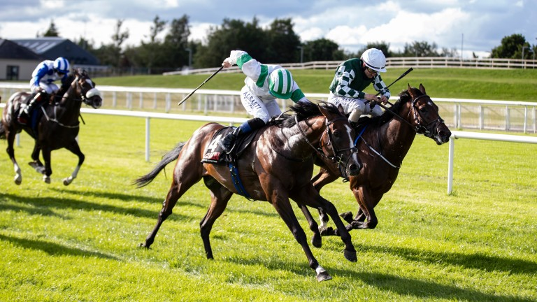 Laws Of Indices (near side): a 66-1 winner of the Group 2 Railway Stakes