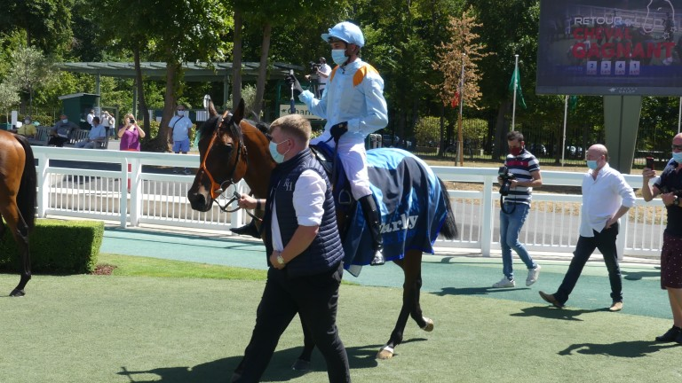 Ventura Tormenta returns with Christophe Soumillon after landing the Prix Robert Papin at the expense of The Lir Jet