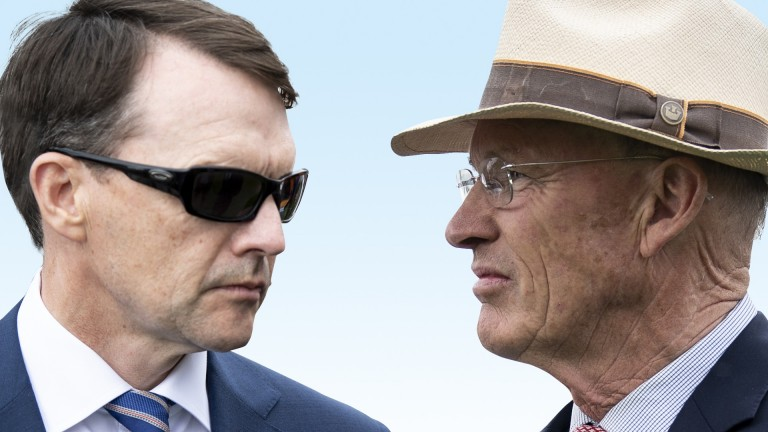Aidan O'Brien (left) and John Gosden: who will come out on top in Saturday's feature Group 1?