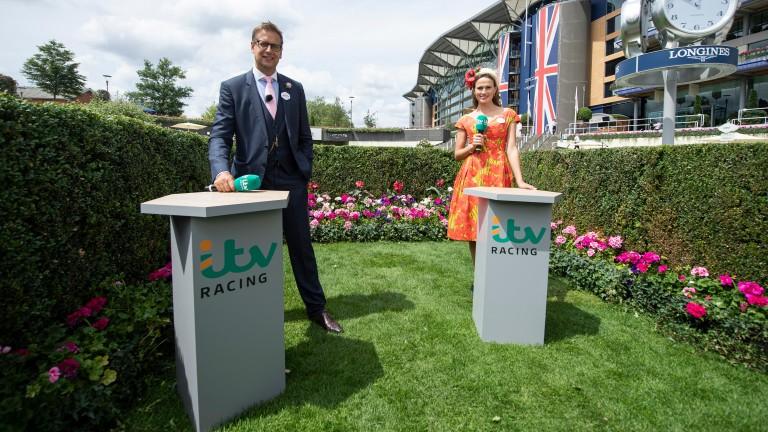 ITV presenters Ed Chamberlin and Francesca Cumani at Royal Ascot this year