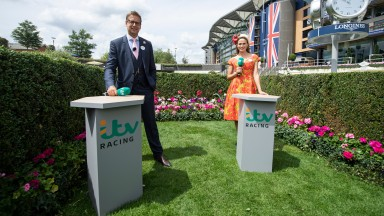 ITV presenters Ed Chamberlin and Francesca CumaniAscot 17.6.20 Pic: Edward Whitaker / Racing Post