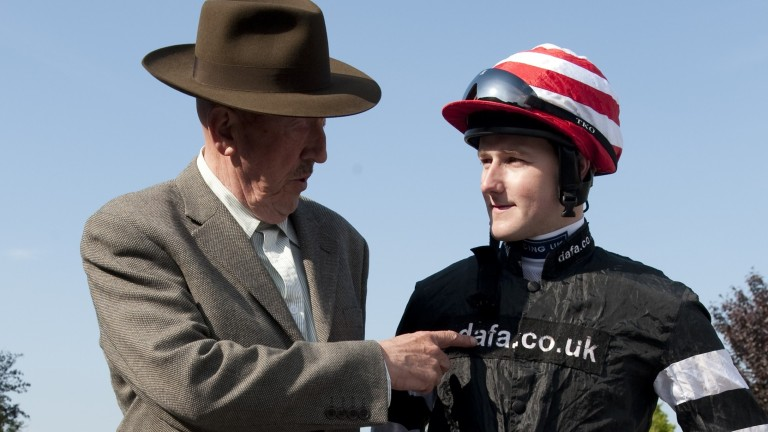 Barney Curley and Tom Queally: the legendary figure had a massive influence on the jockey's career