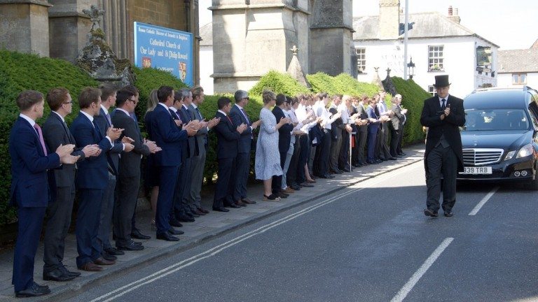 Those in attendance paid their final respects to Liam Treadwell