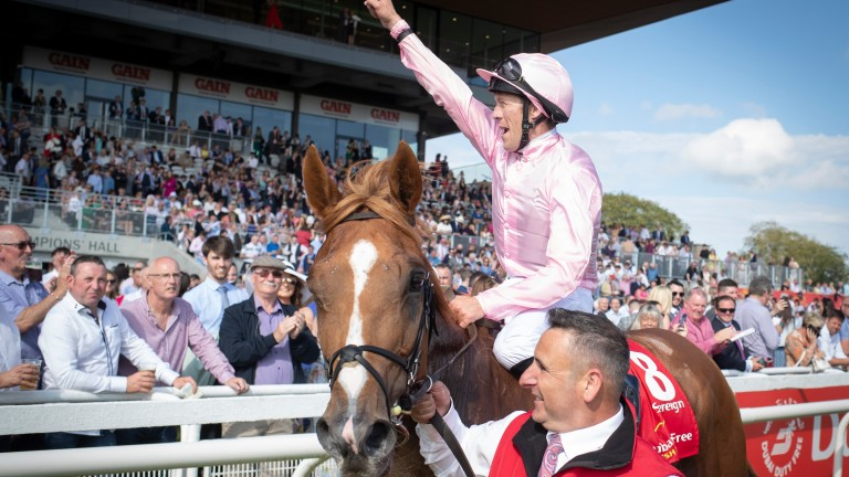 Sovereign: 2019 Dubai Duty Free Irish Derby hero made a very pleasing return at the Curragh four weeks ago