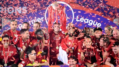 Liverpool lifted the Premier League title at Anfield on Wednesday