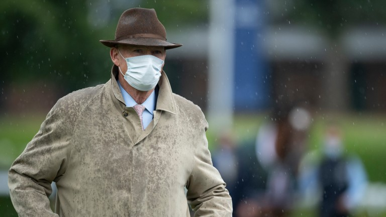 John Gosden at Ascot on Saturday prior to Enable's King George victory