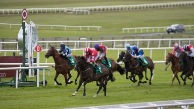 The Equine Medirecord Handicap won by Njord and Shane Foley.The Curragh Racecourse.Photo: Patrick McCann/Racing Post 28.06.2020