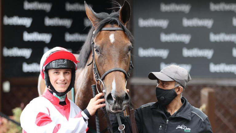 Liberty Beach is one of a number of strong chances at Glorious Goodwood next week for Jason Hart, who should be fine to ride despite getting kicked at Newcastle on Saturday