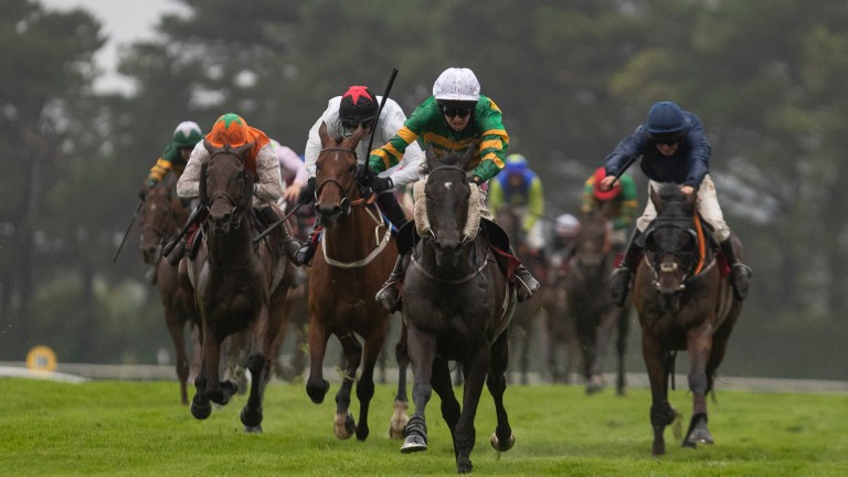 Early Doors draws clear of the chasing pack in the run to the line in the Galway Plate