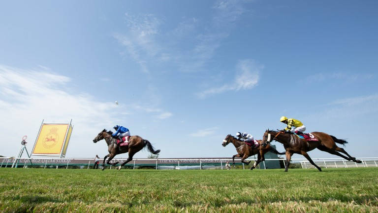 Battaash: storms away from his rivals at Goodwood