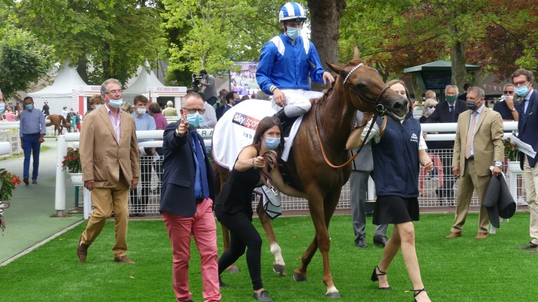 Longhamp this way, madame: Raabihah received quotes of 20-1 for the Arc after dominating the Prix de Psyche at Deauville