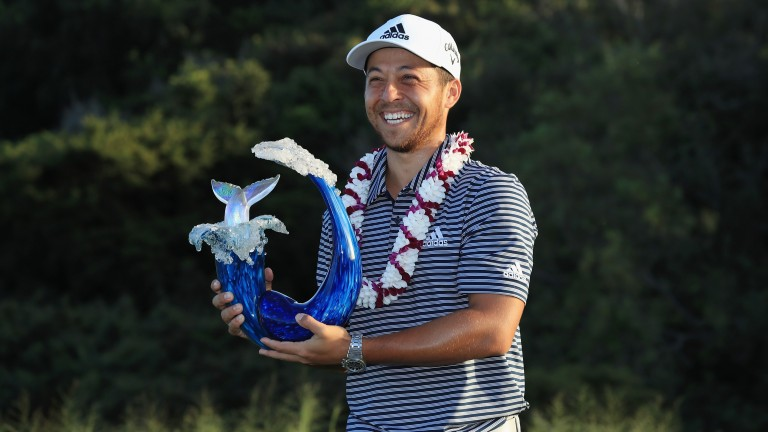 Xander Schauffele can get a trophy in his hands again on Sunday