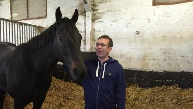 Goldream looking thrilled to see Tom Morley