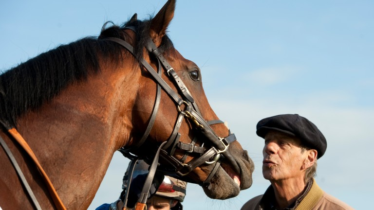 Frankel and his trainer Sir Henry Cecil, pictured here in June 2012, shared a special bond