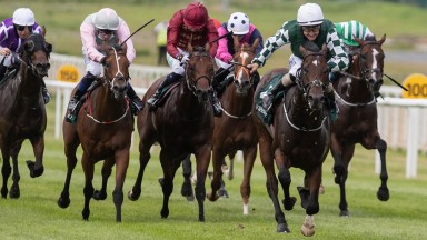 Lucky Vega and Shane Foley winning the Keeneland Phoenix Stakes (Group 1).The Curragh Racecourse.Photo: Patrick McCann/Racing Post 09.08.2020