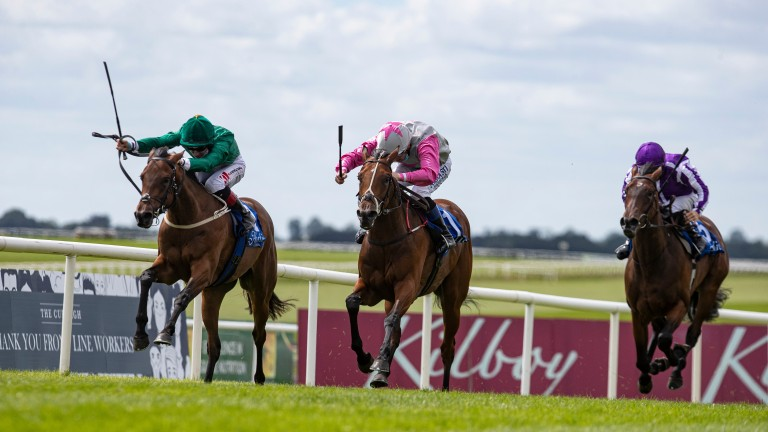 Aloha Star (centre): won the Group 2 Airlie Stud Stakes on her previous start