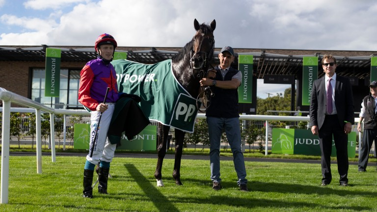 Romanised and Billy Lee pictured after winning the Paddy Power Minstrel Stakes