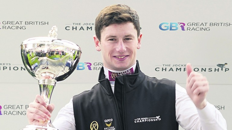 Oisin Murphy: looks set to retain his jockeys' championship crown after a four-timer at Chelmsford on Thursday