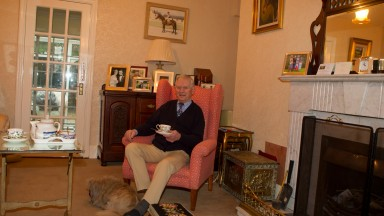 Willie Robinson rider of Mill House at his home near Kilcullen Photo: Patrick McCann 21.02.2013
