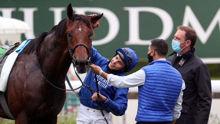 Ghaiyyath: could now be partnered by regular rider William Buick in the Irish Champion Stakes