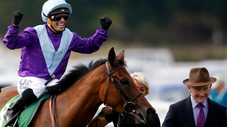 Silvestre de Sousa is overjoyed after Arabian Queen's Juddmonte International triumph