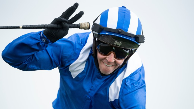 Jim Crowley: scored on Ikhtiraaq in the first division of the 7f novice