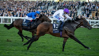 Sands Of Mali defeats Harry Angel in the Qipco British Champions Sprint Stakes