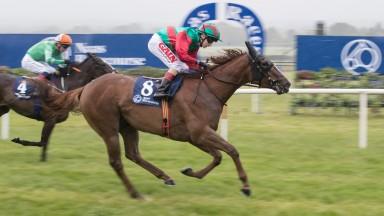 Rapid Reaction and Andrew Slattery wins the Irish Stallion Farms EBF Fillies Handicap.Naas.Photo: Patrick McCann 18.06.2018
