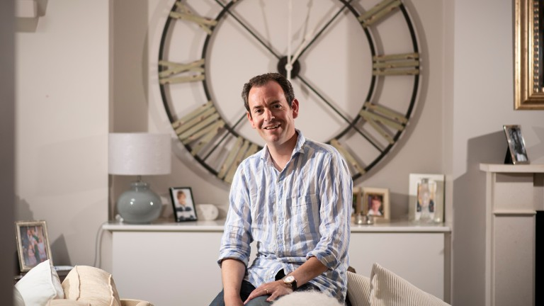 TV presenter Nick Luck at home in Teddington, South-West London3.9.20 Pic: Edward Whitaker