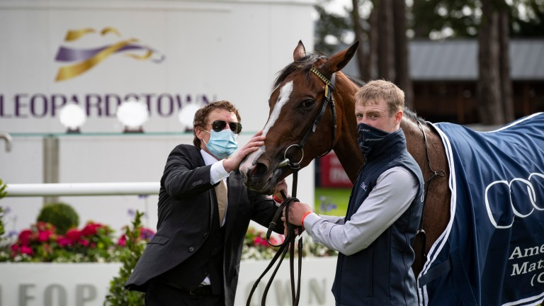 A chuffed Johnny Murtagh with Champers Elysees