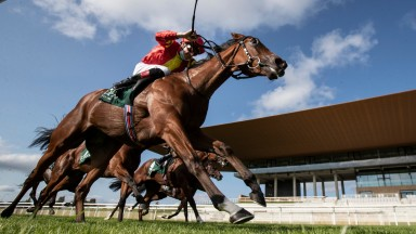 Thunder Moon and Declan McDonogh winners of the Goffs Vincent O'Brien National Stakes (Group 1) Irish Champions WeekendThe Curragh Racecourse.Photo: Patrick McCann/Racing Post 13.09.2020