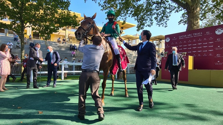 Christophe Soumillon gives his impressions after Tarnawa's victory in the Qatar Prix Vermeille