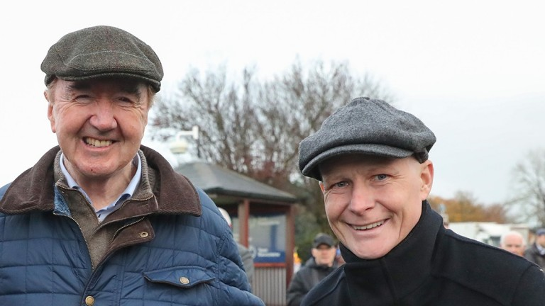 Pat Smullen pictured at Naas in November with his great ally Dermot Weld